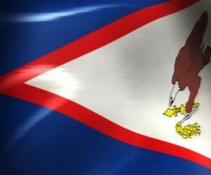 Układanka Flaga Samoa Amerykańskiego