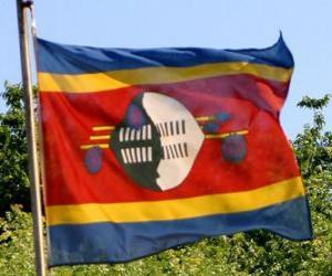 Układanka Flaga Suazi