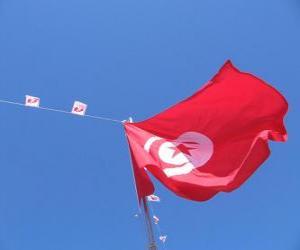 Układanka Flaga Tunezji