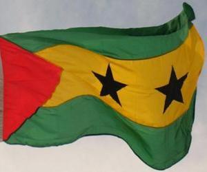 Układanka Flaga Wysp Świętego Tomasza i Książęcej