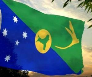 Układanka Flaga Wysp Bożego Narodzenia
