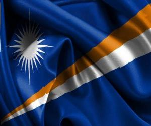 Układanka Flaga Wysp Marshalla