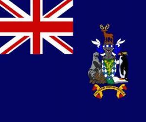 Układanka Flaga Wyspy Georgia Południowa i Sandwich Południowy