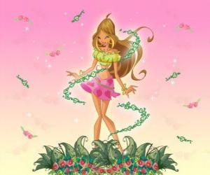 Układanka Flora, wróżka kwiatów
