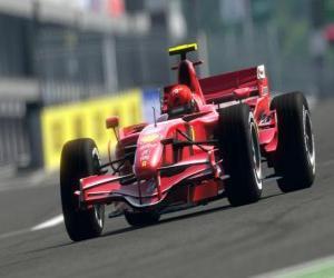 Układanka Formula One F1 lub wóz
