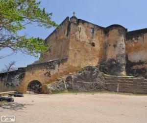 Układanka Fort Jesus, portugalski fort umiejscowiony w Mombasa (Kenia)