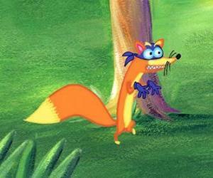 Układanka Fox Swiper zawsze stara się ukraść coś do Dory