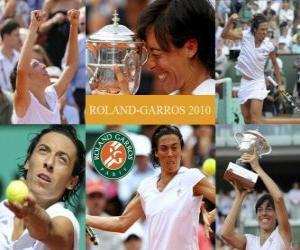 Układanka Francesca Schiavone mistrzyni Roland Garros 2010