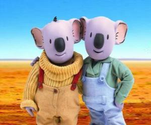 Układanka Frank i Buster, bracia koala