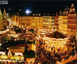 Układanka Frankfurt Jarmark Bożonarodzeniowy