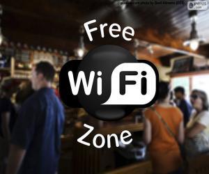 Układanka Free wifi zone