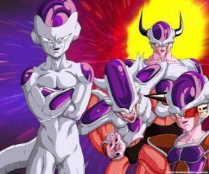 Układanka Freezer, supervillain i wielkim wrogiem Goku może żyć unoszącą się w przestrzeni kosmicznej