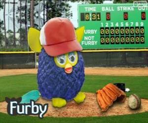 Układanka Furby gra baseball