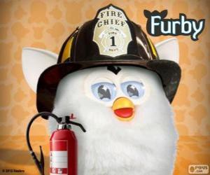 Układanka Furby strażak