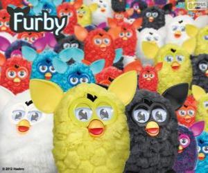 Układanka Furbys, zabawki elektroniczne