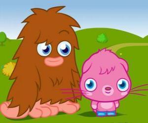 Układanka Furi i Poppet, dwie zabawy potwora Moshi Monsters