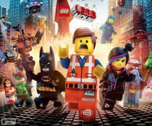 Układanka Główne postacie z filmu Lego