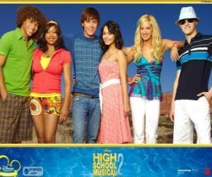 Układanka Główne postacie z High School Musical 2