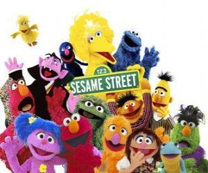 Układanka Główne postacie z Ulicy Sezamkowa