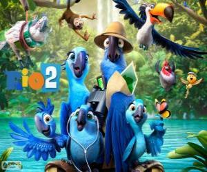 Układanka Głównymi bohaterami filmu Rio 2