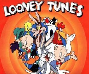 Układanka Głównymi bohaterami Looney Tunes