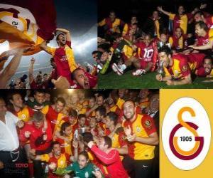 Układanka Galatasaray SK, mistrz Super Lig 2011-2012, Turcja Football League