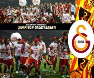 Układanka Galatasaray SK, mistrz Super Lig 2012-2013, Turcja piłka nożna liga