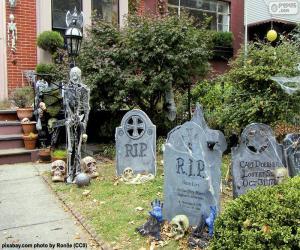 Układanka Garden urządzone na Halloween