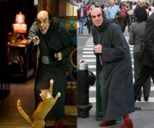Układanka Gargamel i jego kot Azrael Smerfy szukać nas na Manhattanie
