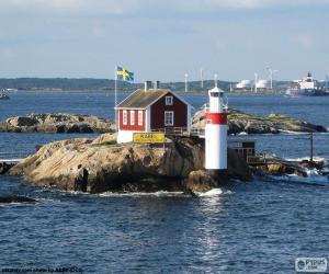 Układanka Gaveskar latarnia morska, Göteborg, Szwecja