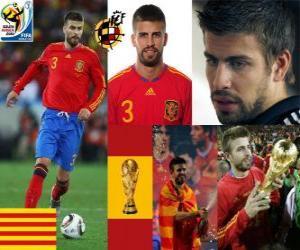Układanka Gerard Pique (elegant Hiszpania) Hiszpański zespół obrony