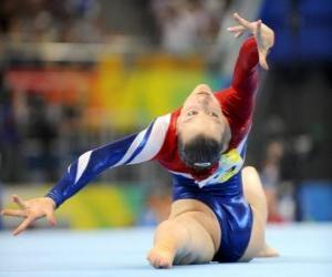 Układanka Gimnastyk wykonywania ćwiczenia piętro