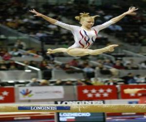 Układanka Gimnastyka artystyczna - Ćwiczenia w belki wagi