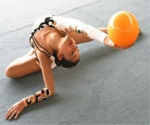 Układanka Gimnastyka artystyczna - ćwiczenia z piłką