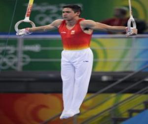 Układanka Gimnastyka artystyczna - Jeszcze pierścieniami