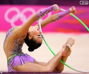 Układanka Gimnastyki z obręcz