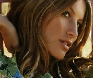 Układanka Gisele Bündchen, brazylijska aktorka i modelka