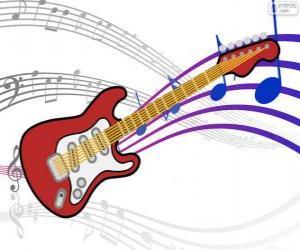 Układanka Gitara elektryczna