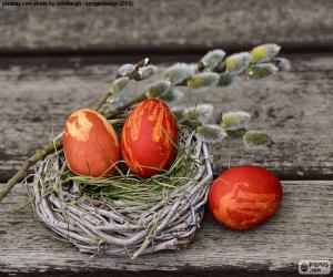 Układanka Gniazdo, Wielkanocne