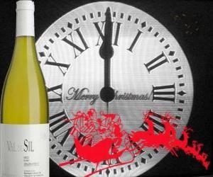 Układanka Godzina po 12 w nocy, butelkę wina i Santa's Sleigh
