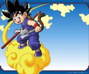 Układanka Goku jazdę na chmurze Kinton, że mogą latać z dużą prędkością