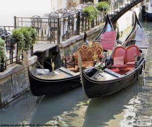 Układanka Gondole Wenecja