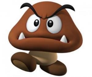 Układanka Goomba, wrogów Mario, rodzaj grzyba z nóg