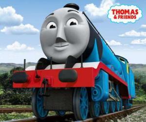 Układanka Gordon, niebieski silnik z numerem 4, pociąg ekspresowy