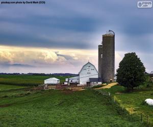 Układanka Gospodarstwo rolne w: Wisconsin