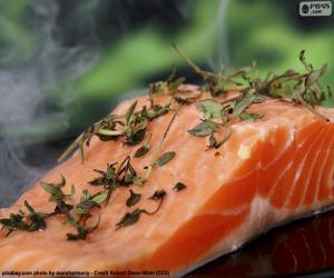 Układanka Gotowanie z łososia