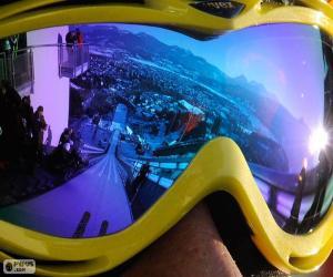 Układanka Gotowy do skoki narciarskie