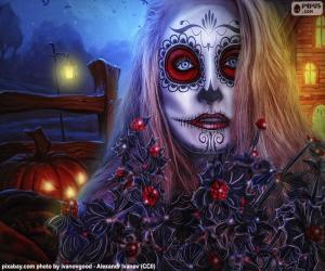 Układanka Gotyckie Halloween maski