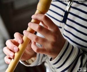 Układanka Gra na flecie