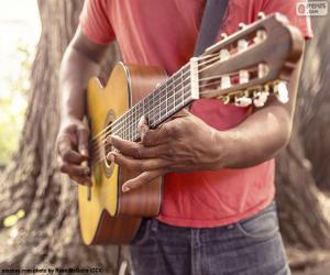 Układanka Gra na gitarze